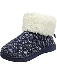 Isotoner Sparkle Knit Boot Slippers amazon-shoes grigio
