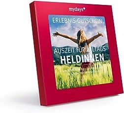 mydays Erlebnis-Gutschein   AUSZEIT FÜR ALLTAGSHELDINNEN   1 bis 2 Personen, 160 Erlebnisse, 1000 Orte   Geschenkidee für Frauen