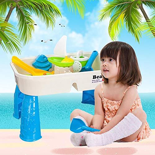 Freedomanoth Kinder Beach Schaufel Spielzeug Set Kinder Spiel Tisch Sand Wasser Spieltisch, für Kinder ab 3 Jahre, Garten und Outdoor, Enthält Zubehör Deckel Sicher ungiftig (Outdoor-wasser-spiel-tisch)