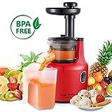 Taylor Swoden Jazz 900015- Estrattore, Centrifuga di frutta, motore a corrente continua da 120W, spremuta a freddo con Juice Jug e spazzola per pulizia, Prepara succhi di frutta e verdurasalutari, BPA Free, Black and Red.