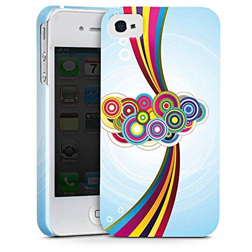 Apple iPhone X Silikon Hülle Case Schutzhülle Schnörkel Regenbogen Muster Premium Case glänzend