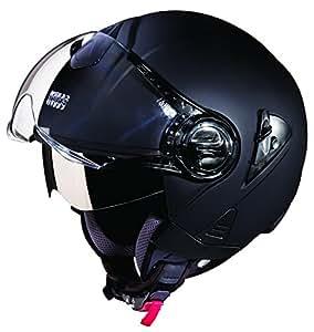 Studds Downtown SUS_DONOFH_MBLKL Open Face Helmet (Matt Black, L)