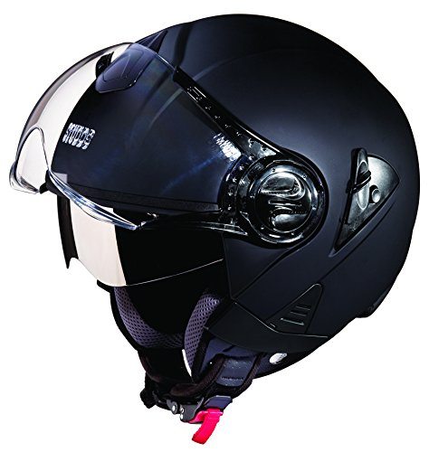Studds Downtown SUS_DONOFH_MBLKL Open Face Helmet (Matt Black, L)