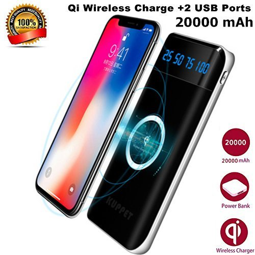 how to buy in stock top fashion Chargeur Induction sans fil KUPPET 2 en 1 PowerCore 20000mAh ...