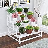 Flower Stand, Home Flower Shop 4-Tier-Treppe Regal Trapez Eisen Kunst Multi-Layer-Blumen-Stand (Farbe : C, Größe : 60cm)