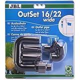 OutSet wide 16/22 Wasserrücklauf-Set mit Breitstrahlrohr für Außenfilter von Aquarien mit 16/22 Schlauch