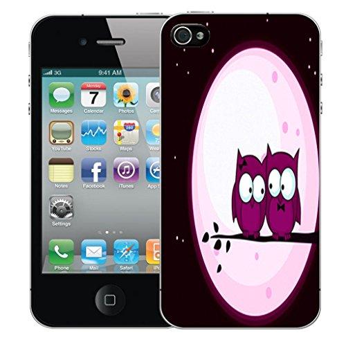 Nouveau iPhone 4s clip on Dur Coque couverture case cover Pare-chocs - Rose sagittarius Motif avec Stylet pink night owls