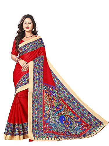Kanchan Women's Cotton Silk Saree With Blouse PieceWomen's Kalamkari Khadi Silk Saree...