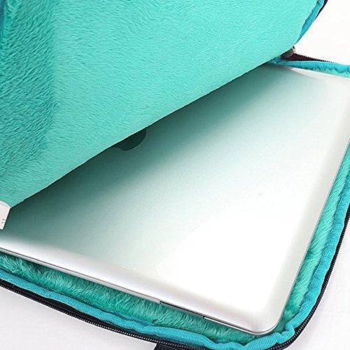 frixie (TM) Tablet portatile multifunzionale Business Valigetta astuccio con manico e tracolla per Macbook Air Pro 13pollici Grey Blue
