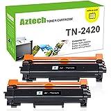 Aztech 2 Pack Kompatibel für Toner Brother TN2420 TN2410 für Brother MFC-L2710DN MFC-L2710DW MFC-L2730DW L2750DW HL-L2350DW H