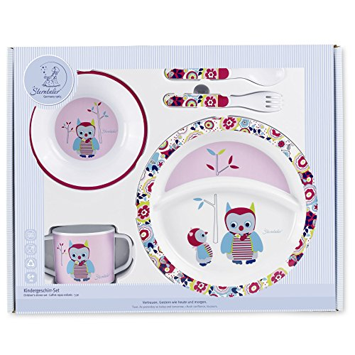 Sterntaler  Baby Dinner Set (Emilie The Owl, 5-Piece)