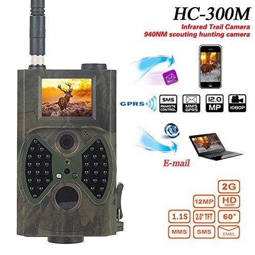 Wefun Wildkamera,Jagdkamera Wildkamera Fotofalle 12MP 1080P Full HD LCD,Wasserdichte Überwachungskamera 940nm Scout Infrarot