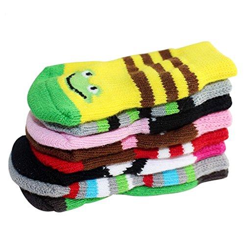 Gazechimp Gummi-Verstärkung Haustier Socken Weihnachten Hundesocken Atmungsaktive Kleidung Stricksocken für Outdoor-Übung - Mehrfarbig - L (Übung Kleidung)