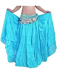 YiJee Danza del Vientre Falda Estilo Bohemio Larga Falda de la Mujer