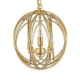 Moderner minimalistischer Leuchter-Speisetisch-Leuchter-E14 * 3 Restaurant-Schlafzimmer-Beleuchtungs-Gold