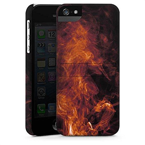 Apple iPhone X Silikon Hülle Case Schutzhülle Flamme Rauch Feuer Premium Case StandUp