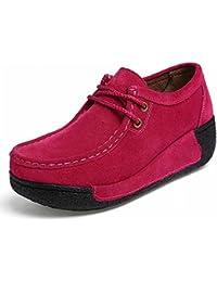 Zapatos de Encaje Zapatos Casuales Ronda Sacudiendo Zapatos Zapatos Pantalones Base Gruesa Pendiente con Mis Zapatos...