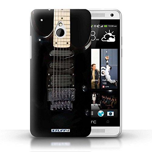 Kobalt® Imprimé Etui / Coque pour HTC One/1 Mini / Acoustique en Bois conception / Série Guitare Noir Electrique