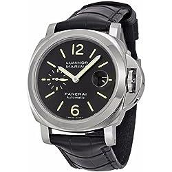 PANERAI Luminor Marina Automatic Acciaio - Reloj (Reloj de pulsera, Masculino, Acero inoxidable, Acero inoxidable, Cuero, Negro)