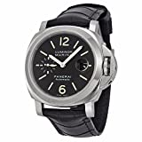 PANERAI MEN'S LUMINOR 44MM LEATHER BAND STEEL CASE AUTOMATIC WATCH PAM00104