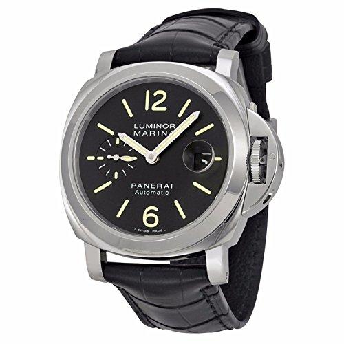 PANERAI Luminor Marina Automatic Acciaio – Reloj (Reloj de pulsera, Masculino, Acero inoxidable, Acero inoxidable, Cuero, Negro)