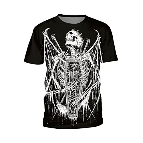 Jiayiqi Camiseta con Estampado De Calavera Blanca Camiseta Manga...