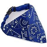 Echarpe Foulard Col Bandana Triangle pour Chien Chat animaux Collier reglable 44cm bleu