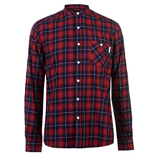 Pierre cardin uomo camicia a quadri in flanella con colletto rosso/azzurro xl