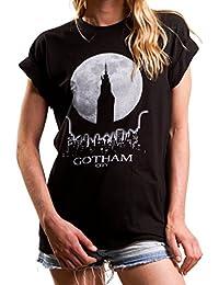 Oversize Shirt GOTHAM Kurzarm Sommer Top lässig geschnitten mit Audruck