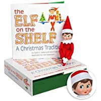 Elf on the Shelf: A Christmas Tradition | Light Skinned Blue Eyed Girl Scout Elf Doll | Includes Keepsake Box and Children's Book | Register your Elf to download an Adoption Certificate + Letter from Santa