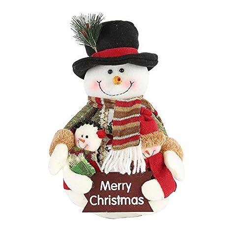 PanDaDa Weihnachtsfamilien Porträt Flanell Rag Puppe Weihnachtsmann Schneemann hängende Verzierungen