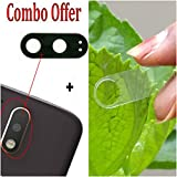 New Back Rear Camera Glass Lens + Camera Tempered Glass Compatible With Moto G4 Plus (Made of Glass)