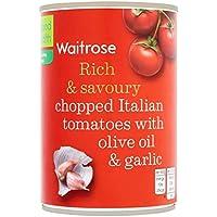 Los tomates italianos con aceite de oliva y ajo Waitrose 400g