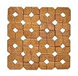 6 Sätze verdicken Bambus Drink Coasters Holz Tischsets für Küche Tisch-6