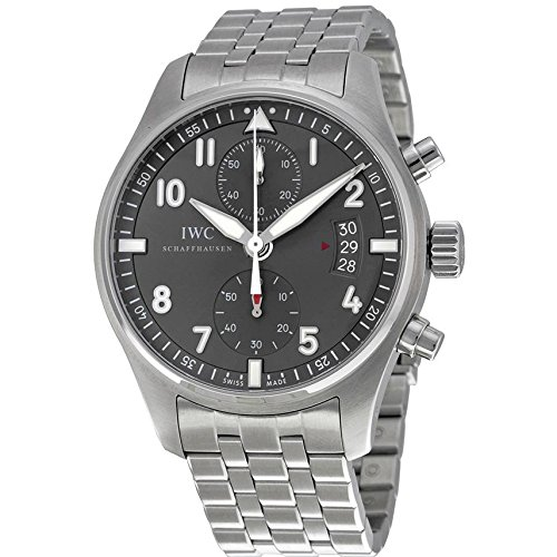 IWC-MENS-SPITFIRE-ARDOISE-43MM-STEEL-BRACELET-MECHANICAL-WATCH-IW387804