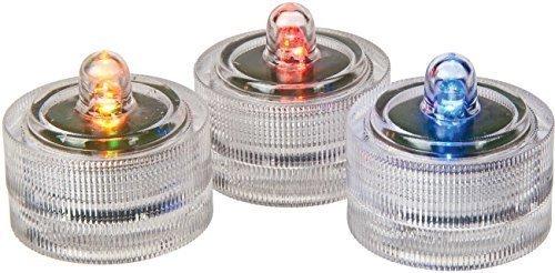 Trimming Shop LED Kerzen Farb Verändernd Tee Lichter Tauchboot Verblassen mit Batterien für Hochzeit, Geburtstag, Zuhause & Büro Vase Dekoration Rot, 40 Pcs