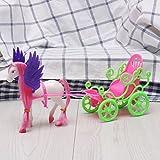 Xuniu Mini Dream Fly Carruaje de Caballos para Barbie Kelly Accesorios...