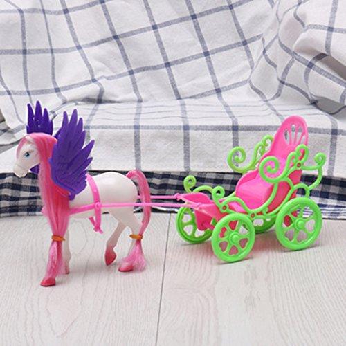 Junlinto, Mini Dream Fly Pferdekutsche für Barbie Kelly Puppe Zubehör Mädchen Kid Spielzeug - Kelly-puppe Große