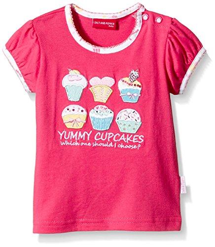 SALT AND PEPPER Baby - Mädchen T-Shirt B Sweetie Uni Cupcakes, Einfarbig, Gr. 68, Rosa (Soft Rasberry 876) (T-shirt Kinder Cupcake)