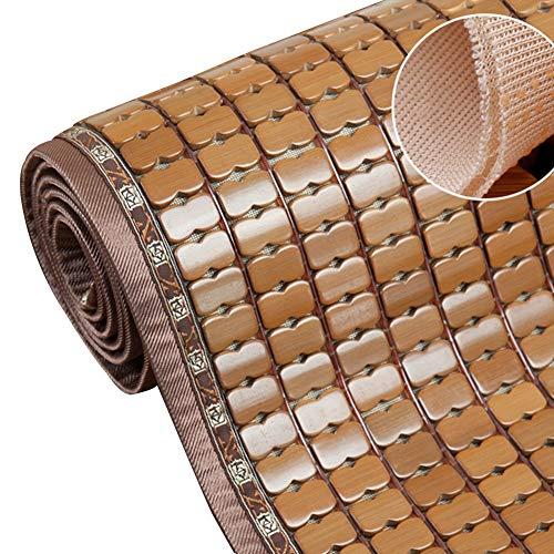 CAIJUN Sofakissen Sitzkissen Auto Carbonisierte Farbe Bambusmatte Kühl Und Atmungsaktiv Faltbar Dauerhaft Sommer, 3 Arten, Benutzerdefinierte Größe Pflanzen-Pad (Color : B, Size : 60x80cm) -