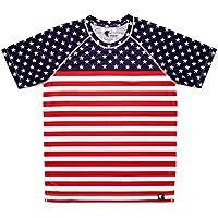 Camiseta Bandera Estados Unidos Niño, Niña, Manga Corta, Running, Gimnasio #StarsAndStripes Talla 12