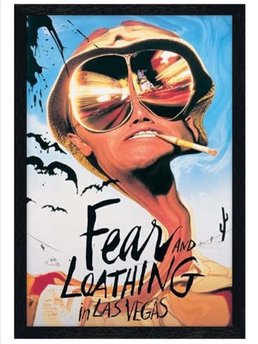 Fear & Loathing in schwarzes Holz eingerahmtes Johnny Depp Poster 61x91,5cm