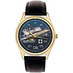 Kitsch Art Messerschmitt ME-262 Commemorative Luftwaffe WW-II 40 mm Jetfighter Wrist Watch