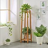 ZYN Blumenregal aus Holz für den Innenbereich, mit mehreren Ebenen, Rahmen aus solidem Holz L30CM*W30CM*H90CM Farbe retro