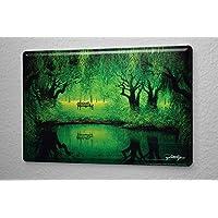 Blechschild Fantasy Gothik Elfe Feen Wald Wand Deko Schild 20X30 cm