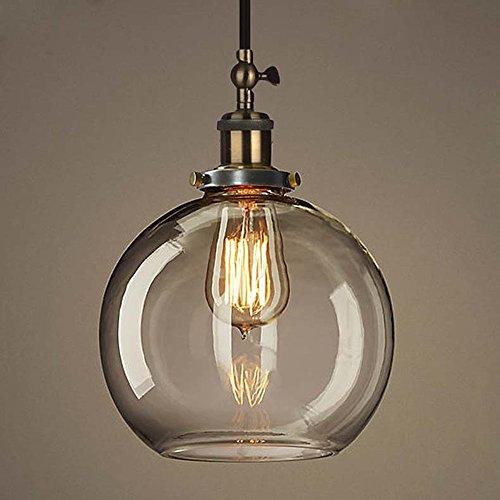 NIUYAO Industrie Kronleuchter Metall & Glas Hänge Pendelleuchten Style Kugelförmig Vintage Retro