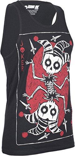 Akumu Ink THE JOKER CARD Skeleton Men TANKTOP Top Gothic Schwarz Mit Motiv
