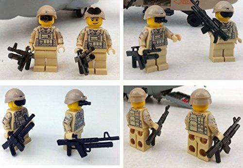 Modbrix 8830 – 2 Stück US ARMY Special Forces Soldaten inkl. M4 Sturmgewehr, Custom Figuren aus original Lego® Teilen - 2