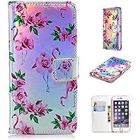 Nadoli Handytasche für iPhone 6 Plus (5.5 Zoll),PU Leder Klapphülle Laser Handyhülle Brieftasche Schale Etui für... preisvergleich bei billige-tabletten.eu