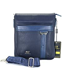 Roberto Ballmore Unisex Leatherette Shoulder Sling Bag / Messenger Bag Blue - B075HGCW65